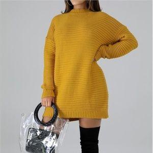 Sweaters - Mustard Sweater Dress